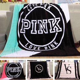Wholesale pink plaid bedding - fashion NEW Kintting Blanket Pink Blanket Manta Fleece Blanket Sofa Bed Plane Travel Plaids Bedding,family