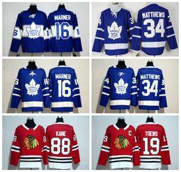 Wholesale Red White Black Jerseys - Hockey Jerseys Maple Leafs #34 Auston Matthews Jersey 16 Mitch Marner #19 Toews Oilers #97 Connor McDavid Jersey Wholesale 2017 New