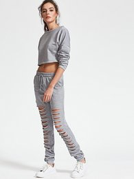 Wholesale New Arrival Girl S Long - hot sale young girl tracksuit 2pcs sweatshirt pants Europe-America fast fashion autumn new arrival 1color 4sizes