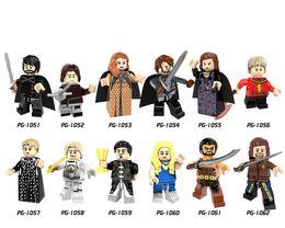 Wholesale Snow Blocks - New Arrival Building Blocks Minifigures Action Bricks Game of Thrones Jon Snow Arya Sansa Robb Catelyn Stark Kids DIY Toys 12pcs set PG8072