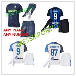 Wholesale Milan Shorts - Top quality 2017 2018 Inter home away THIRD soccer jersey 17 18 PALACIO ICARDI MEDEL EVER BANEA CANDREVA Milan 3RD Adult kit football shirt