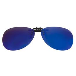 Clip polarizado de los vidrios de conducción online-Hombres Espejo Gafas de sol Polarize Clip On Gafas de sol Driving Night Vision Toad Lens Flip Up Hot!