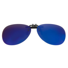 Wholesale Clip Eye Glasses - Men Mirror Sun Glasses Polarize Clip On Sunglasses Driving Night Vision Toad Lens Flip Up Hot!