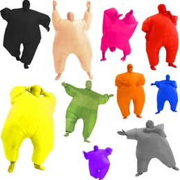 Wholesale Blow Up Christmas - quality Adult Inflatable Chub Suits Blow Up Blue Green Red Purple Pink Color Full Body Christmas Party Cosplay Costume Jum