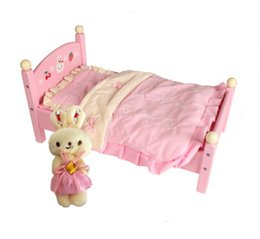 Wholesale Strawberry Furniture - Baby Toys Mother Garden Strawberry Simulation Princess Bed Wooden Toys Child Furniture Toy Pretend Play Education Chriatmas Gift