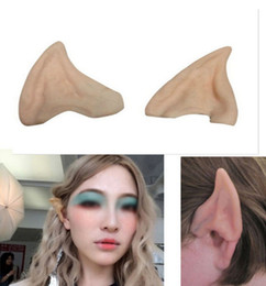 Wholesale Elf Mask - Dealglad Latex Fairy Pixie Elf Fake Ears Cosplay Accessories LARP Halloween Party Soft Pointed Prosthetic Tips Ear