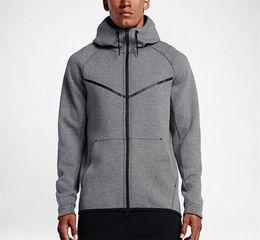 Wholesale Fleece Knit Jacket - 2017 new autumn and winter MEN'S HOODIE SPORTSWEAR TECH FLEECE WINDRUNNER fashion leisure sports jacket running fitness jacket hoodie coat