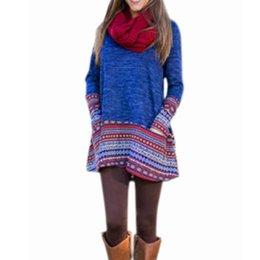 Wholesale Vintage Lace Tee - Blusas 2016 Autumn Women Blouses Long Sleeve Vintage Print Patchwork Shirts Casual Loose Long Tee Tops Plus Size M-XL