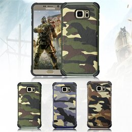 Wholesale Hybrid Cellphone Cases - Fashion Como Camouflage leather case for iphone7 7plus 6 6s plus 5S Samsung S7 edge S6 edge NOTE5 7 J7 j5 Hybrid TPU+PC CellPhone Cases