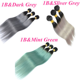 bulk hair dye Promo Codes - Virgin Brazilian Hair Weaves Ombre Human Hair Bundles Wefts Peruvian Malaysian Indian Mongolian Cambodian Bulk Weaving Hair Extensions