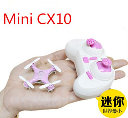 Wholesale Radio Control Aircraft - Cheerson CX-10 CX10 2.4G Remote Control Toys 4CH 6Axis RC Quadcopter Mini rc helicopters Radio Control Aircraft RTF Drone dhl 20