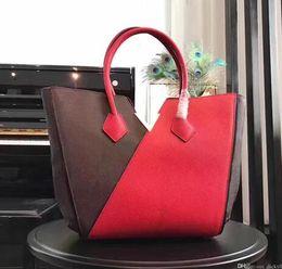 Wholesale Cowhide Leather Crossbody Bag - High quality fashion 100% genuine leather cowhide woman's shoulder Bags tote bag crossbody bags 40460 KIMONO
