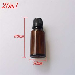 Wholesale Brown Glass Jars - 10 pcs 30x80 mm Brown Glass Bottles With Black Plastic Safety Screw Cap DIY 20 ml Empty Glass Bottles Storage Jars Containers
