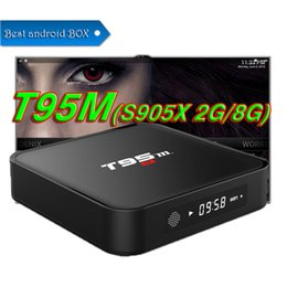 Wholesale Speed Builds - Android 6.0 t95m Amlogic S905X Smart TV BOX 4K 2GB+8GB with Built In Channel Updater Streaming Media Quad Core Speed Fully Load