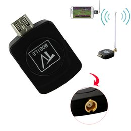 Wholesale Dvb T Pc - Mini Micro USB DVB-T Digital TV Tuner Receiver For Android Phone Tablet PC HDTV