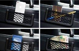 Wholesale Phone Holder Bmw - NEW Multifunctional Storage Tuck Net String Bag Phone Holder Ticket Pocket For BMW Free shipping yy142