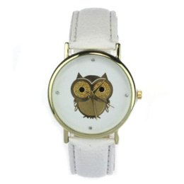 Wholesale Oval Watches For Women - 2015 New Fashion Cartoon Owl Style Dress Gold Watch Women Clock Casual Wrist Watch Quartz Watches For Women Mens Gift