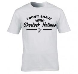 Maglietta degli uomini nuovi 2017 Sherlock Holmes Maglietta degli uomini