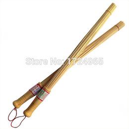 2019 zapatillas de pulso 2pcs cepillo de bambú cuerpo de madera masaje palo fitness masaje masaje Pat