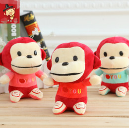 Wholesale Small Monkey Wholesale - Wholesaler Lovely MONKEY Plush toys Soft Stuffed Animal Doll Small 18cm Car Decoration