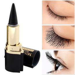 Olho adesivos eyeliner on-line-SENHORA ROSA Marca Maquiagen Maquiagem Olhos Lápis Longwear Preto Gel Eye Liner Adesivos Delineador Wateroroof Make Up