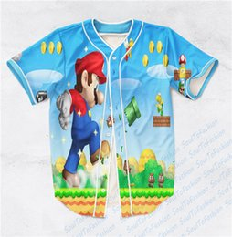 Wholesale Shirt 3d Mario - Real USA Size Custom made Super Mario - Mario World Fashion 3D Sublimaiton Print Unisex Shirt Plus Size 3XL 4XL 5XL 6XL