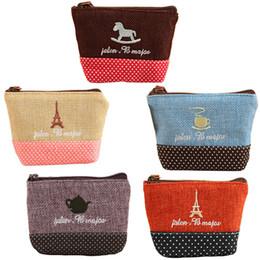 Wholesale Cute Purses For Cheap - Wholesale- Brand New Mini Cute Women Coin Purses Cheap Casual Sackcloth Coin Bags For Women Fashion Women make Up Bags A1