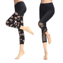 Wholesale See Through Sexy Leggings - Wholesale-6 Patterns Black Women Hollow Out Leggings 2016 Sexy See Through Stretch Jeggings Sheer Mid Waist Legins Spandex Polyester