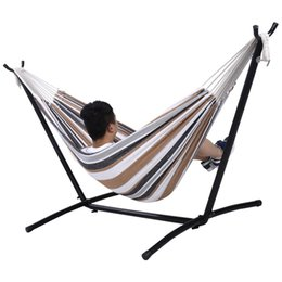 Wholesale Portable Space - Double Hammock With Space Saving Steel Stand Includes Portable Carry Bag New
