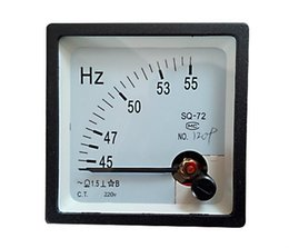 Wholesale Digital Hz Frequency Meter - Wholesale-45-55 Hz 220V Analog Panel Frequency Meter Hertz Indicator for System Monitoring