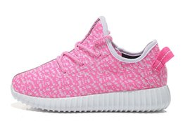 Wholesale Cheap Toddlers Boots - 7 Color kids West 350 Boost sneakers baby Boots Shoes Running Sports Shoes booties toddler shoes cheap Sneakers Training