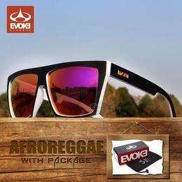 Wholesale Evoke Blue - Brand Sunglasses-EVOKE Mens Sunglasses oculo Evoke Afroreggae Brand Coating Sunglass Sport Sun Glasses with original box gafas de sol