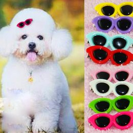 Wholesale Candy Puppy - Pet Dog Sunglasses Hair Accessories Fashion Cute Pets Cat Puppy Candy Sunglass Hair Pins Grooming Accessory