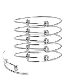 Wholesale Wire Bangles - The 10pcs fashion bracelet provides stainless steel toner with adjustable copper wire air bracelets, made of homemade jewelry