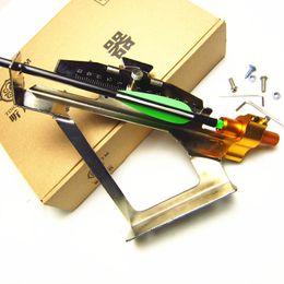 Wholesale Feather Arrow Fletching - New Archery Make DIY Arrow Fletching Tool Adjustable Steel Jig Feather Bonding Device Archery Accessories