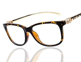 Wholesale Leopard Frame Glasses Optical - Elegant Women's Leopard Head Eyewear Frame Optical Eyeglasses Frames For Women Computer Glasses Spectacle Frame 6pcs Lot