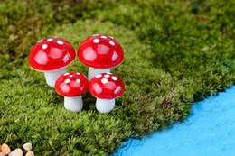 Plastic terrarium online-Colorful mini Mushroom fairy garden miniature gnome moss terrarium decor plastica artigianato bonsai casa giardino ornamento per fai da te zakka