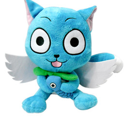 "Wholesale Plush Fairies - Hot Sale Japanese Anime Cartoon Fairy Tail Happy 10"" Plush Toy Stuffed Animals Plus Toy Gifts"