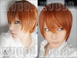 Wholesale Death Note Cosplay Wigs - Wholesale-Yagami Light Wig - Death Note Wig Yagami Light Wig Brown Mens Death Note Cosplay Wig