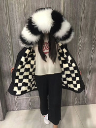 Wholesale Quality Dog Coats - Real pictures shows Mr Mrs FURS black long jackets Mr Mrs itlay black white mink fur lined long cotton parka snow cold coats top quality