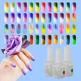 Wholesale Color Change Nail Polish Wholesale - Color Changing UV Gel Nail IDO Gelish Nail Art Soak Off Temperature Gel 48 Colors 15ml 6Pcs Lot