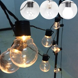Wholesale warm white led festoon lights - outdoor led Christmas Lights fairy 20 LED Globe Connectable Festoon Ball string fairy light party wedding garden garland