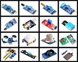 Wholesale Raspberry Model B - Wholesale-16pcs lot Raspberry Pi 3&Raspberry Pi 2 Model B the sensor module package 16 kinds of sensor Free shipping