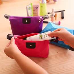 Wholesale Handy Case Wholesale - Many colors Lady's Cosmetic Bag Waterproof Cosmetic Case Handy Cosmetic Pouch Clutch Makeup Bag Toiletry PouchZip Cosmetic Bag
