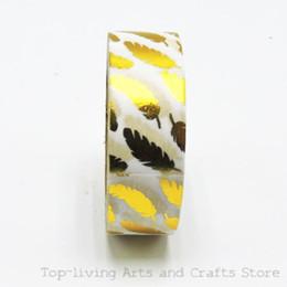 Wholesale Selling Decorative Tape - Wholesale-(1pc Sell) Foil Washi Tape Set Japanese Stationery Scrapbooking Decorative Tapes Adhesive Tape Kawai Fita Adesiva Decorativa