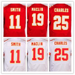 Wholesale Charles Red - Men's 11 Alex Smith 19 Jeremy Maclin 25 Jamaal Charles elite jersey,Red and white,size S-XXXL 0013