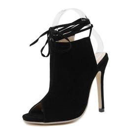 2527b16515e0a Sexy Open toe Roman Sandals Ankle Strappy Celebrity Wearing High Heels Women  Stilettos Pumps Slingback High Heel Sandals Summer size 35-40
