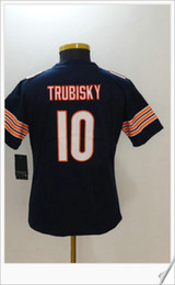 Wholesale Cheap Jersey For Football Team - Womens Chicago Color Rush New Style #10 Mitchell Trubisky American College Football Stitched Embroidery Sports Team Jerseys Cheap For Sale