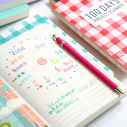 Wholesale Schedule Book - Wholesale- 100 days planner schedule hand book fashion fresh and lovely notebook Notepad stationery school supplies