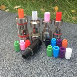 Wholesale E Cigarette Silicon Test - E cigarette Silicone Mouthpiece Cover Wide bore Silicon Drip Tip Disposable Colorful Rubber Test Tips Cap Atlantis Tank subtank plus Subtank